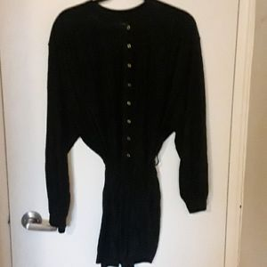 Like new- never worn Black tie dress